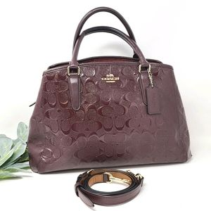 COACH Margot Patent Signature Debossed Bag